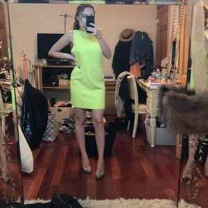 Neon💛 Mini Dress With Open Back
